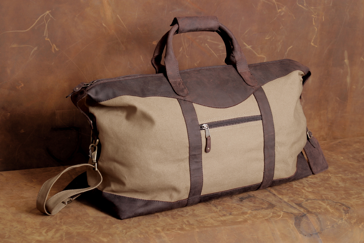Leather/Canvas Duffel