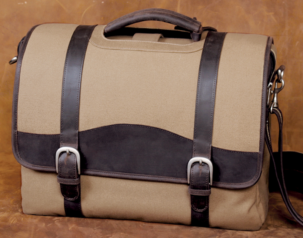 Leather/Canvas Briefcase