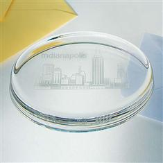 Oval glass Paperweight