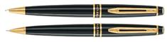 Waterman Expert Black Laquer Set